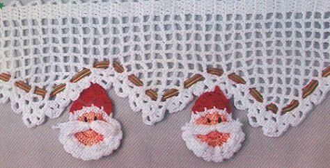Crochet nozzle with mini Santa Claus Photo of Leather Finish