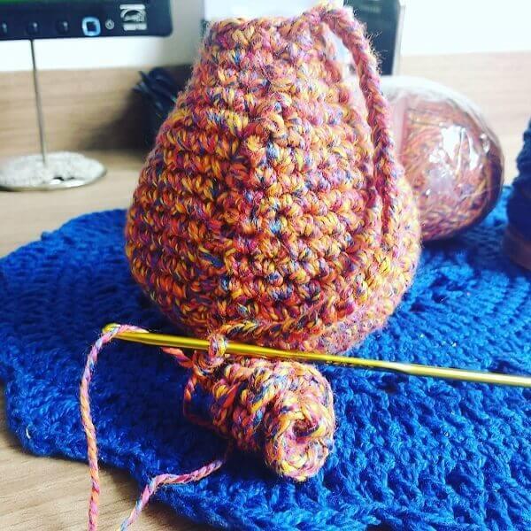 Crochet octopus head
