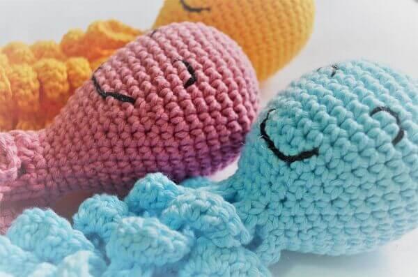 crochet octopus head couple