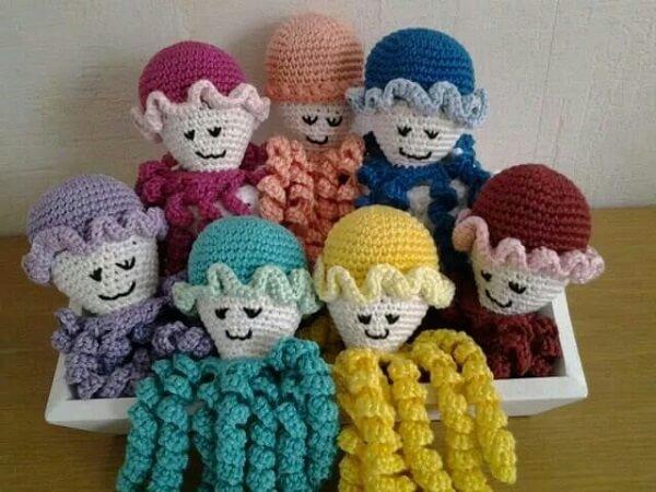 Crochet octopus templates
