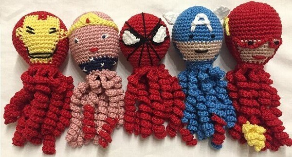 Avengers crochet octopus