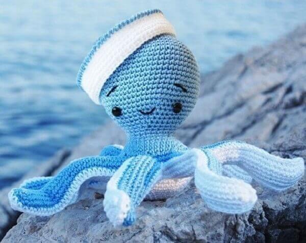 Sailor crochet octopus