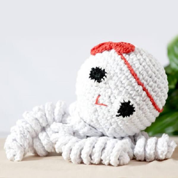 Cute crochet octopus template