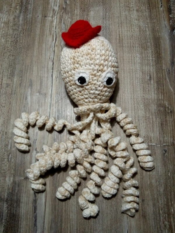 Crochet octopus with hat is pure charm