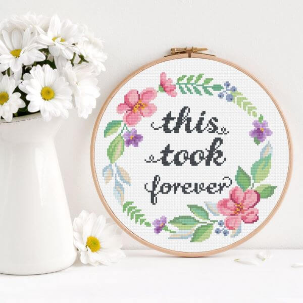 Use the cross stitch to decorate your home with beautiful phrases