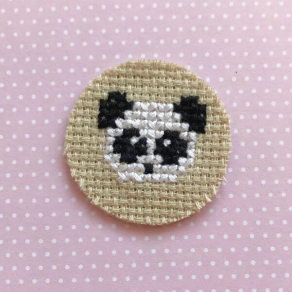 Simple panda cross stitch