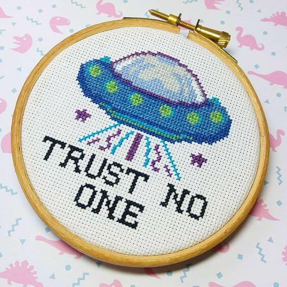 Alien children's cross stitch