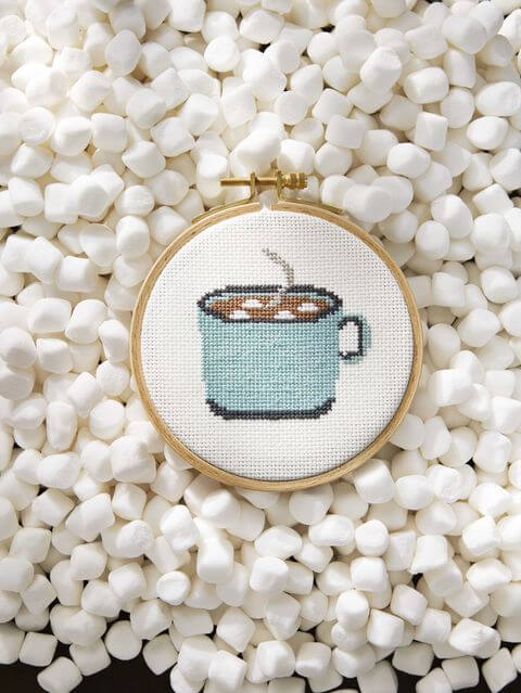 Perfect cross stitch to decorate the coffee corner