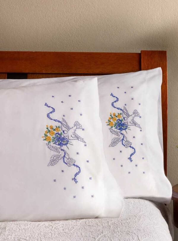 Pillow with personalized embroidery
