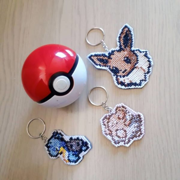 Cross Stitch Keychains