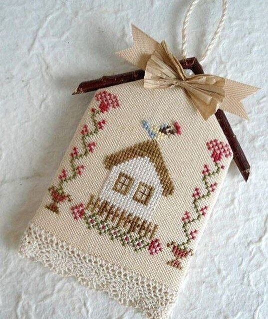 Embroidered home decoration