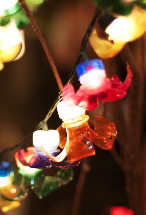 How to make Christmas ornaments with PET bottle and flasher lights