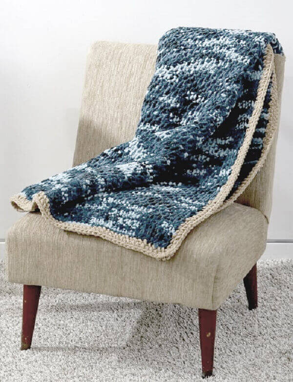 Tunisian blanket made for cold days