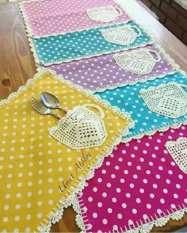 Bring joy to the table using colorful fabric cutlery holder