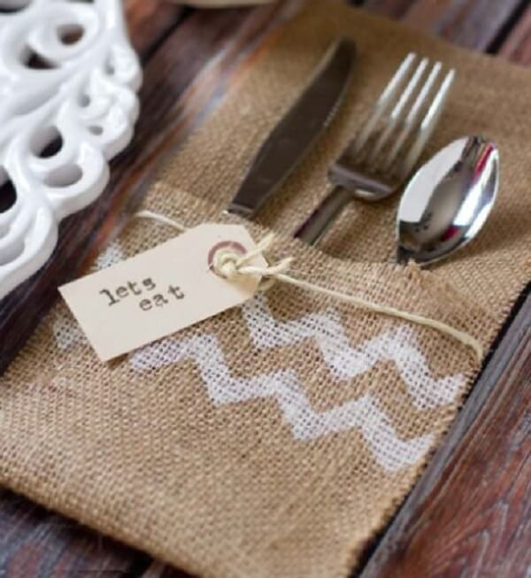 Simple model of fabric cutlery holder