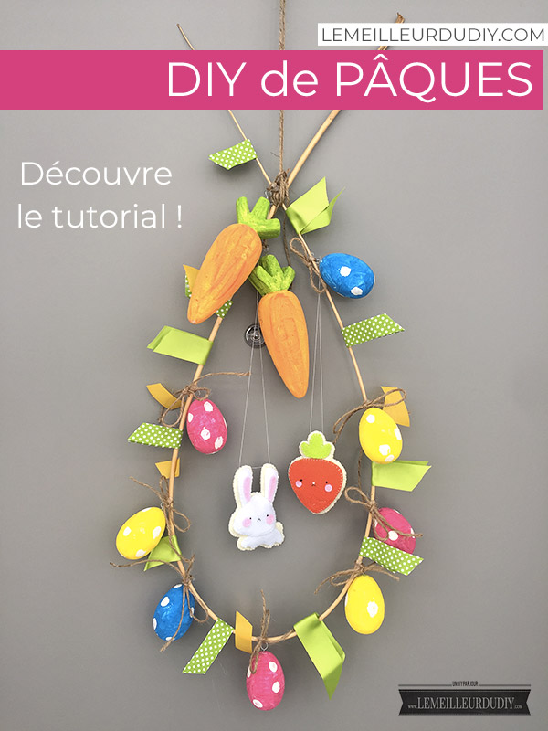 tutorial to learn how to make an Easter wreath