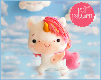 Felt pattern for making characters sold by Noialand on Etsy