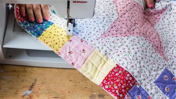 Patchwork sewing bias finish