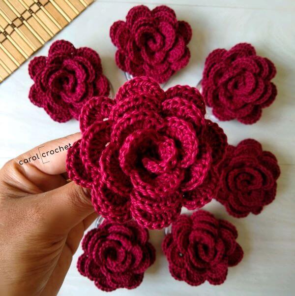 Porta guardanapo de flor de crochê