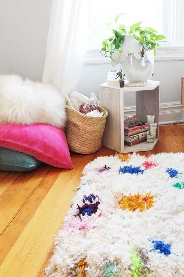 Cozy patchwork rug template