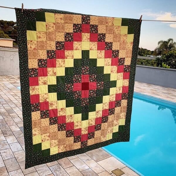 The patchwork rug is a true work of art