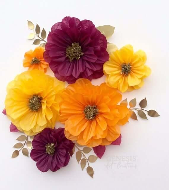 Aprenda como fazer flores de papel de seda lindas