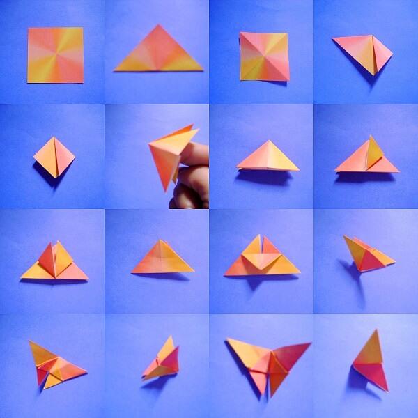 Origami fácil borboleta passo a passo