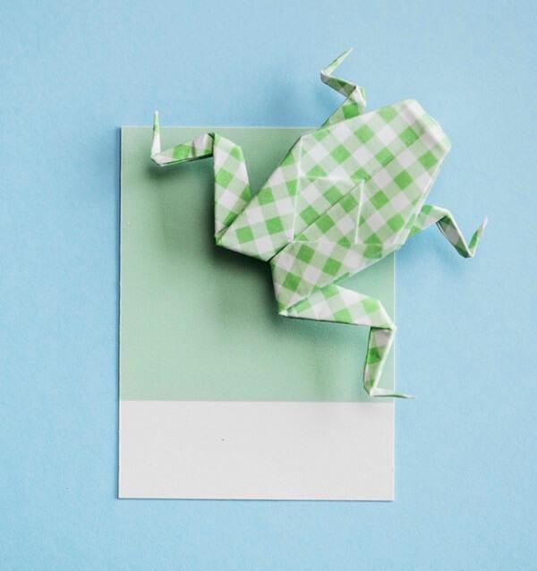 Origami fácil sapo verde