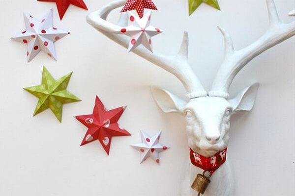 Origami fácil na decoração de natal