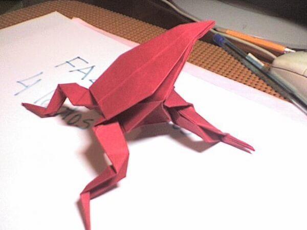 Origami fácil sapo