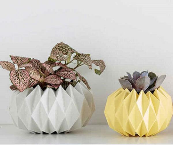 Origami fácil decoração vasos