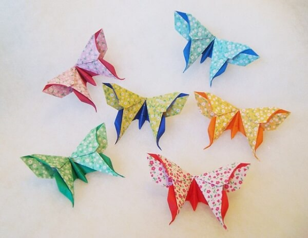 Origami fácil borboleta