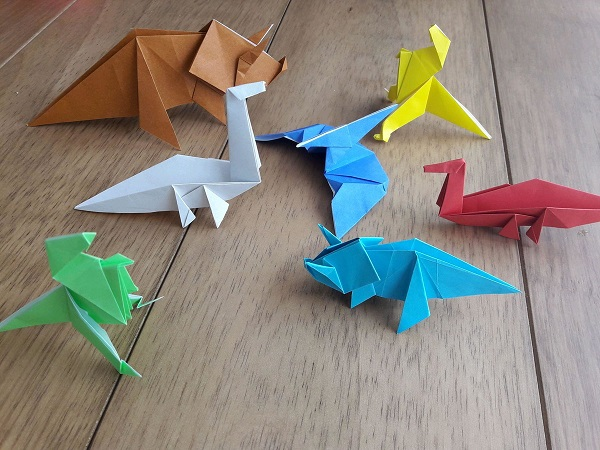 Origami fácil dinossauro