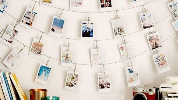 Varal de fotos polaroid