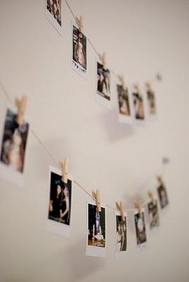 Varal de fotos com pessoas especiais