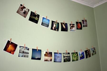 Varal de fotos com várias imagens
