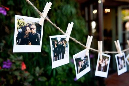 Varal de fotos em festa