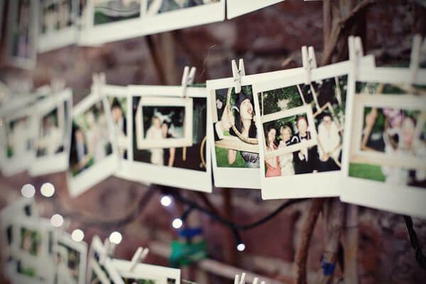 Varal de fotos de festa