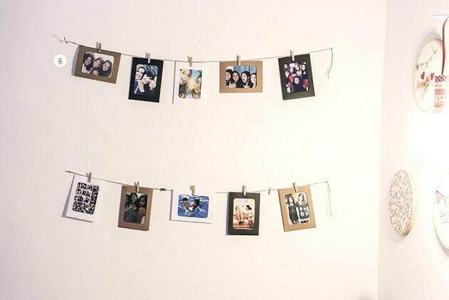 Varal de fotos como item de decoração Projeto de Casa Aberta