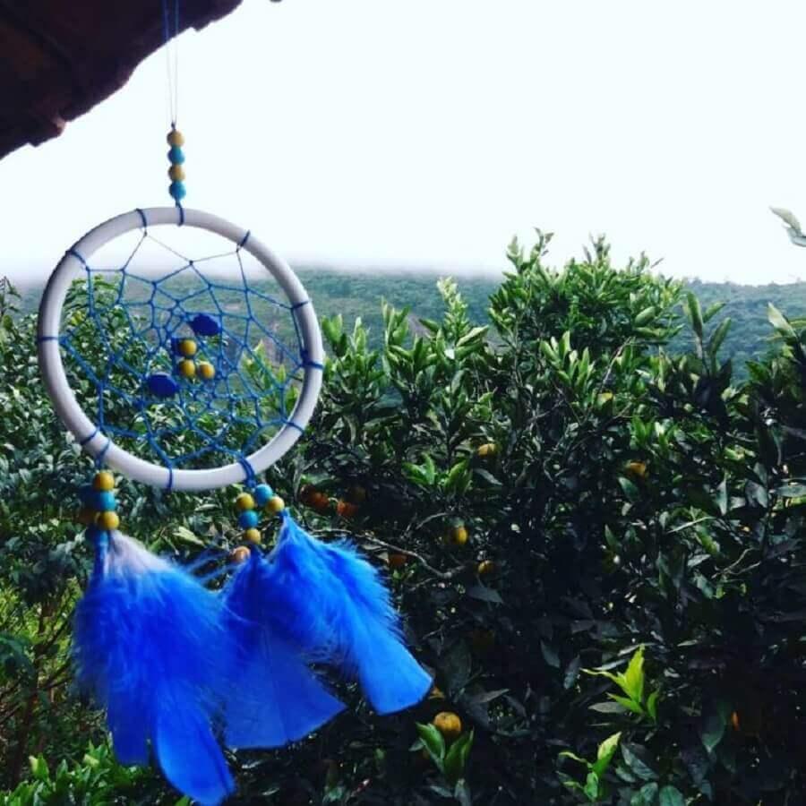 filtro dos sonhos azul Foto Pedra da Lua Artesanatos