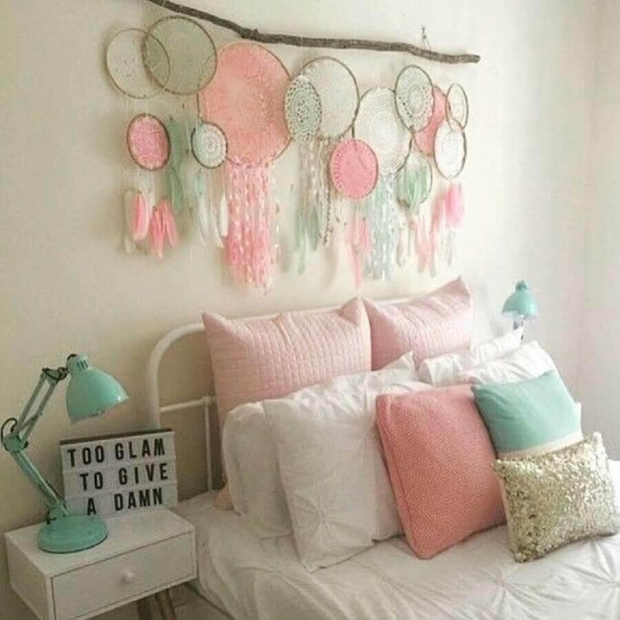 Decoração em tons pasteis para quarto com filtro dos sonhos Foto Pinterest