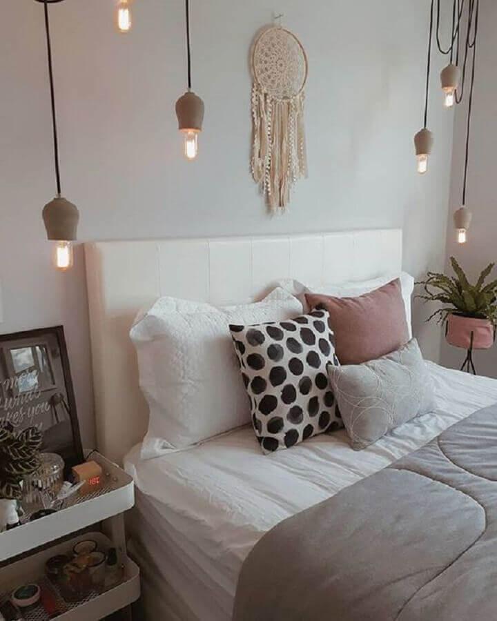 filtro dos sonhos para decoração de quarto moderno com pendentes Foto Pinterest
