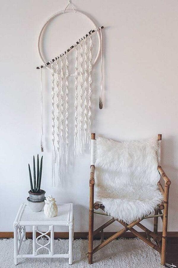 decoração estilo escandinava com filtro dos sonhos diferente Foto Diario Artesanal