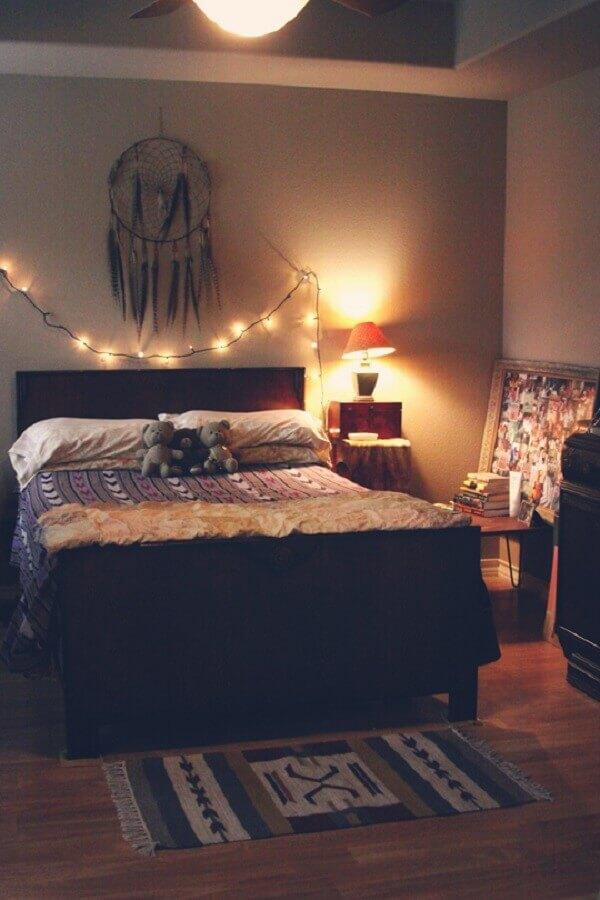 decoração para quarto com pisca pisca e filtro dos sonhos Foto Yandex
