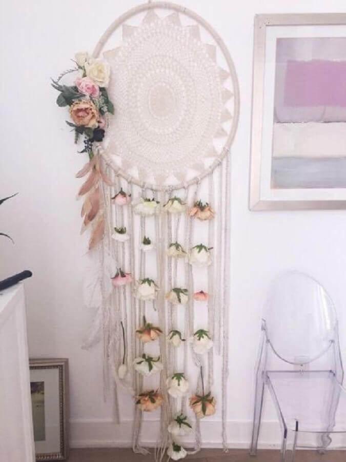 filtro dos sonhos grande decorado com pequenas rosas Foto Pinterest