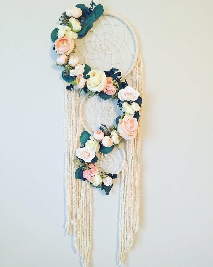 filtro dos sonhos decorado com arranjos de flores Foto Etsy