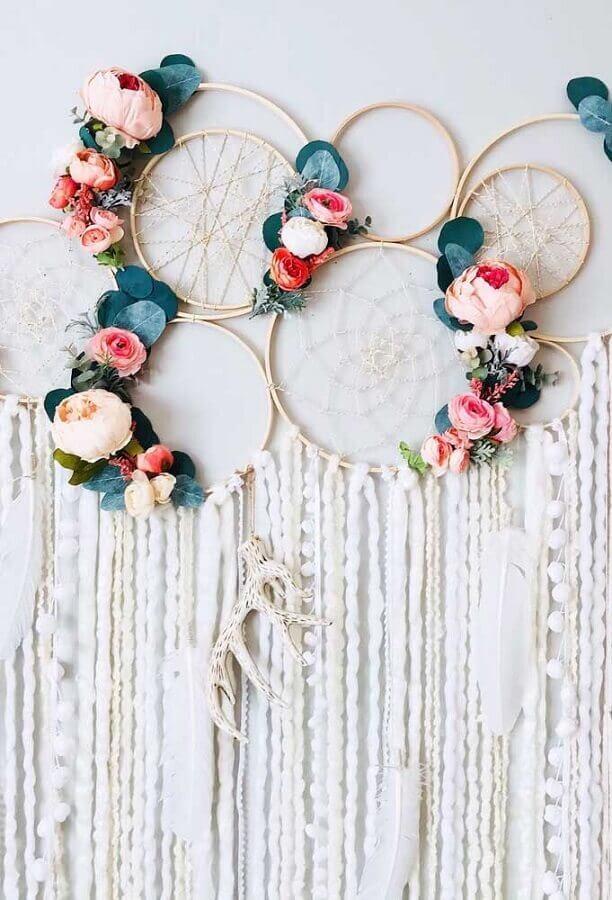 filtro dos sonhos decorado com rosas para festa de casamento Foto FirePont