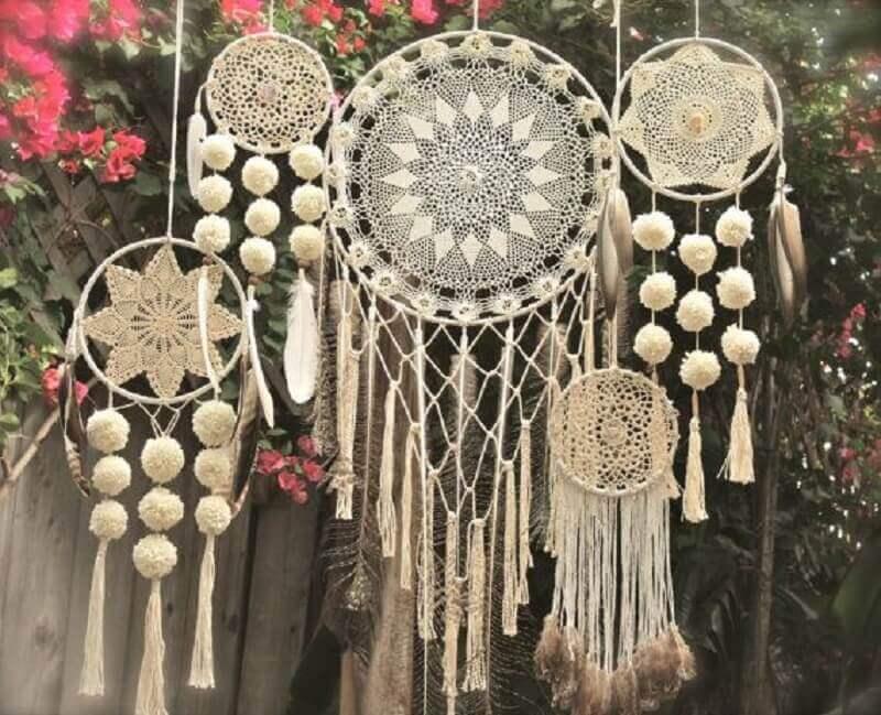 decoração de festa com vários modelos de filtro dos sonhos Foto Pinterest