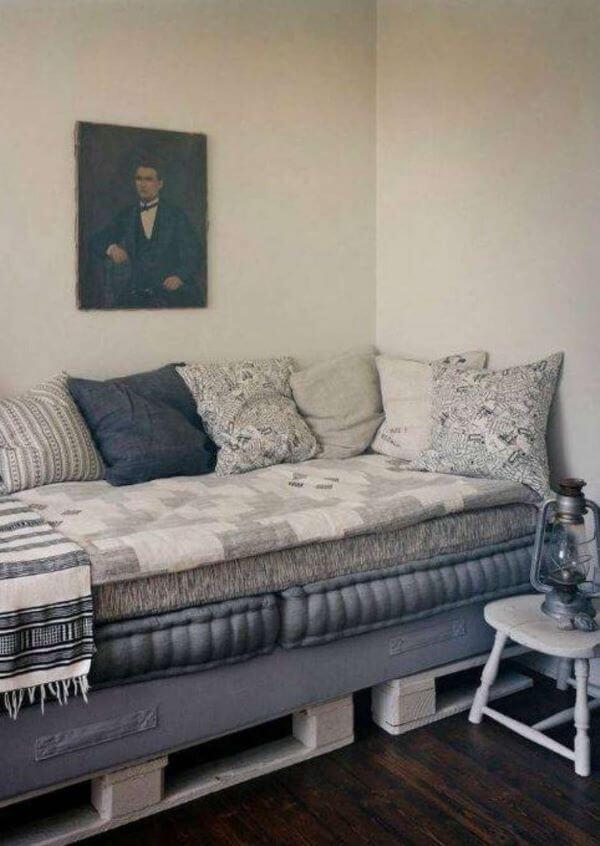 Sofá cama de palete para sala