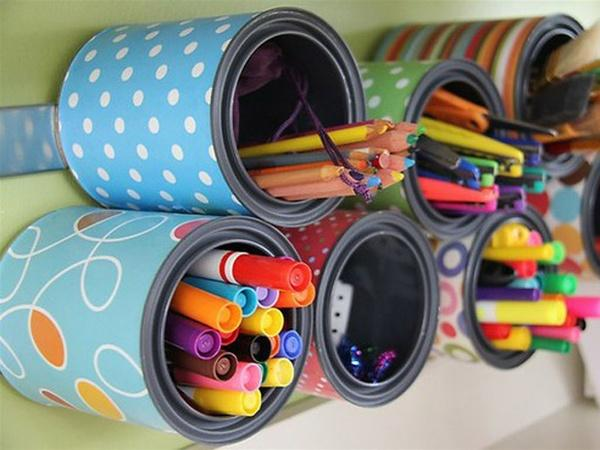How to decorate with aluminum cans - Step 2